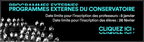 Programmes externes du Conservatoire