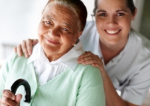 Happy Senior with Nurse