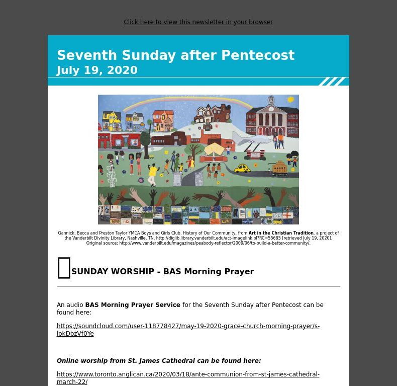 Seventh Sunday after Pentecost  - July 19, 2020
