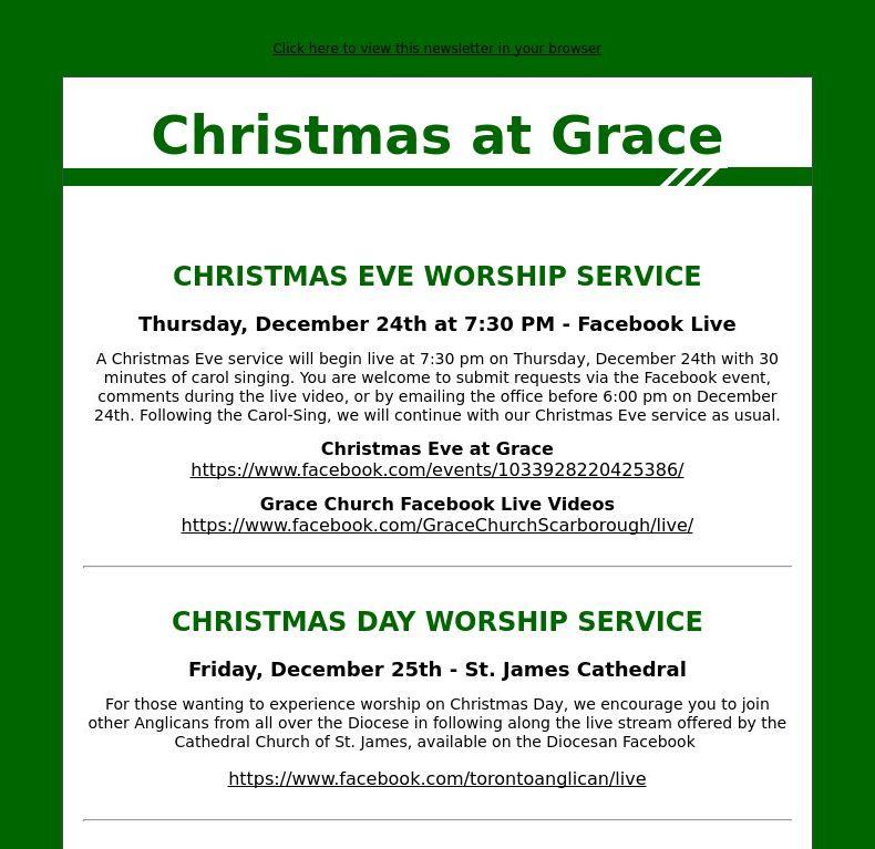 Christmas at Grace