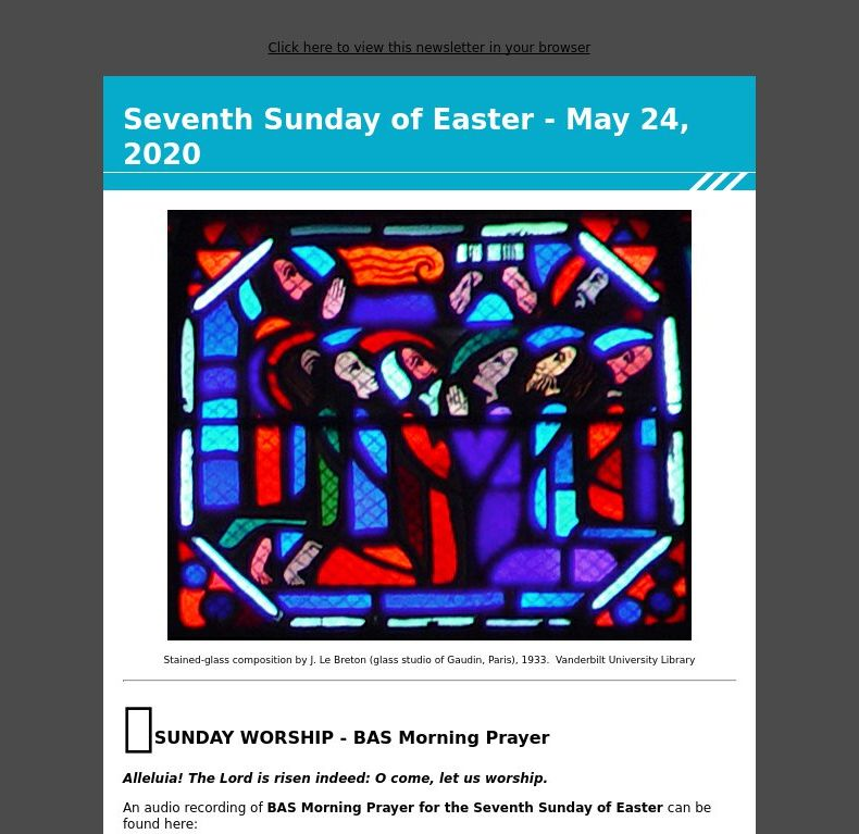 Seventh Sunday of Easter - May 24, 2020