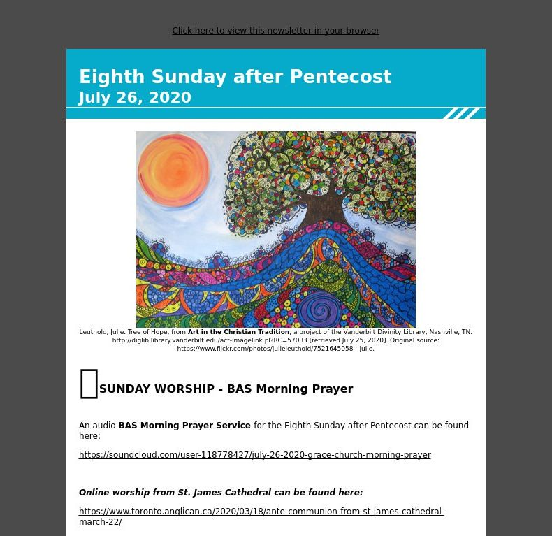 Eighth Sunday after Pentecost - July 26, 2020