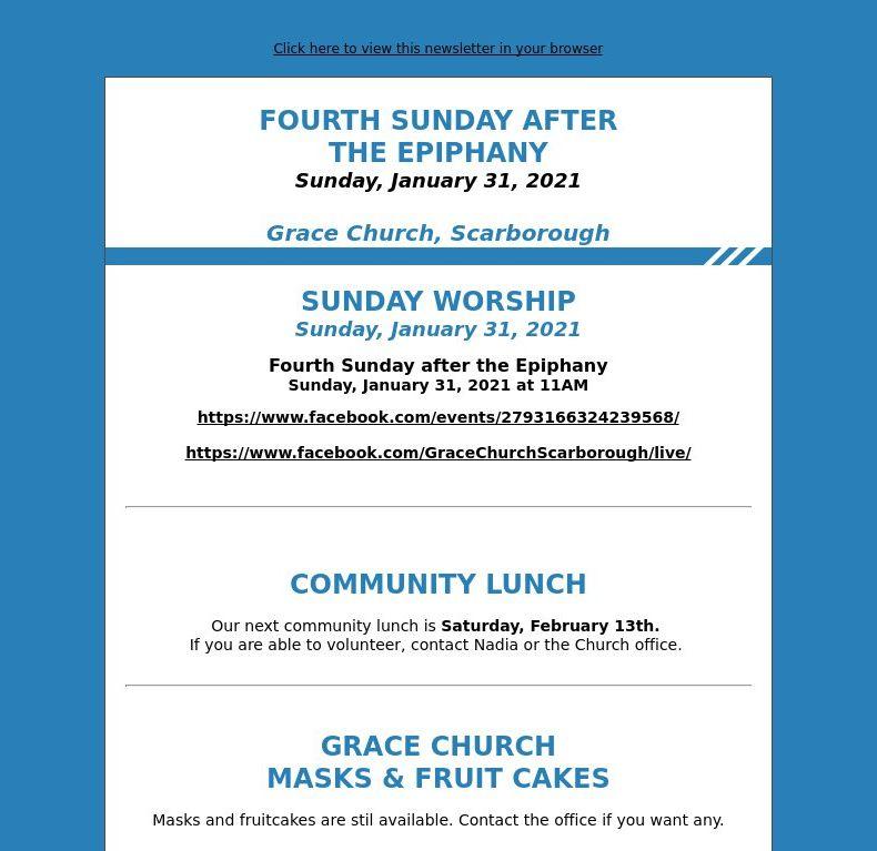 Fourth Sunday after the Epiphany (January 31, 2021)