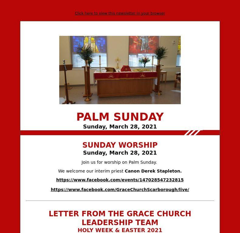 Palm Sunday (March 28, 2021)
