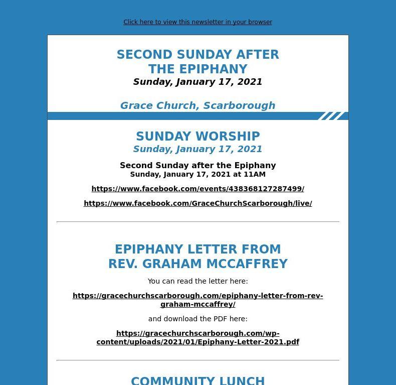 Second Sunday after the Epiphany (January 17, 2021)
