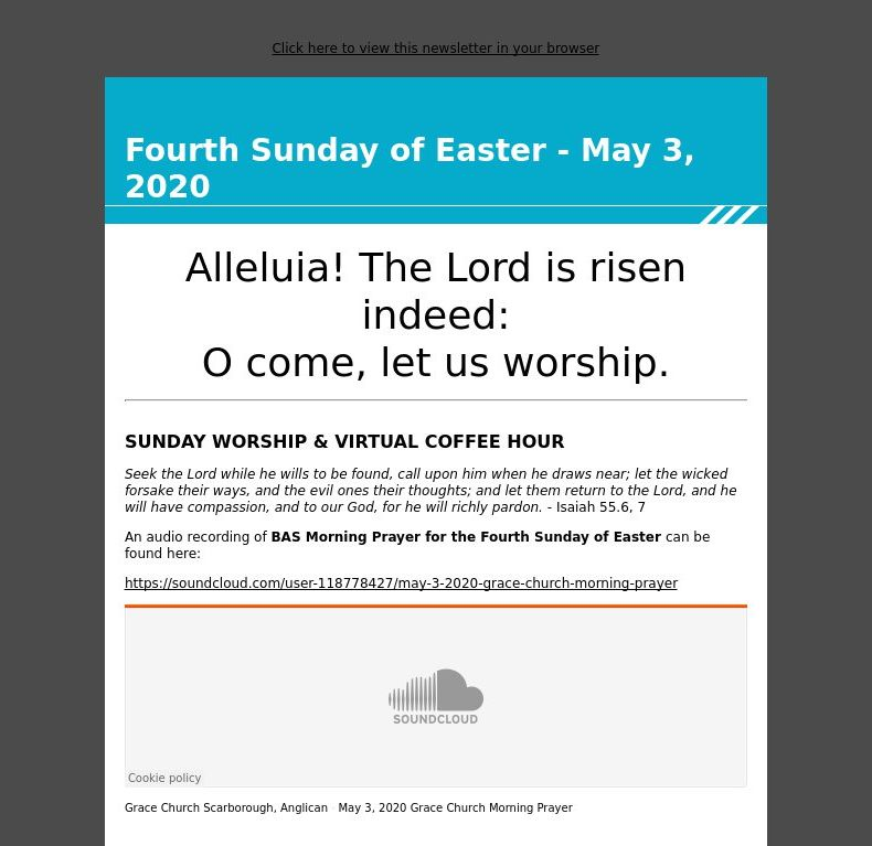 Fourth Sunday of Easter - May 3, 2020