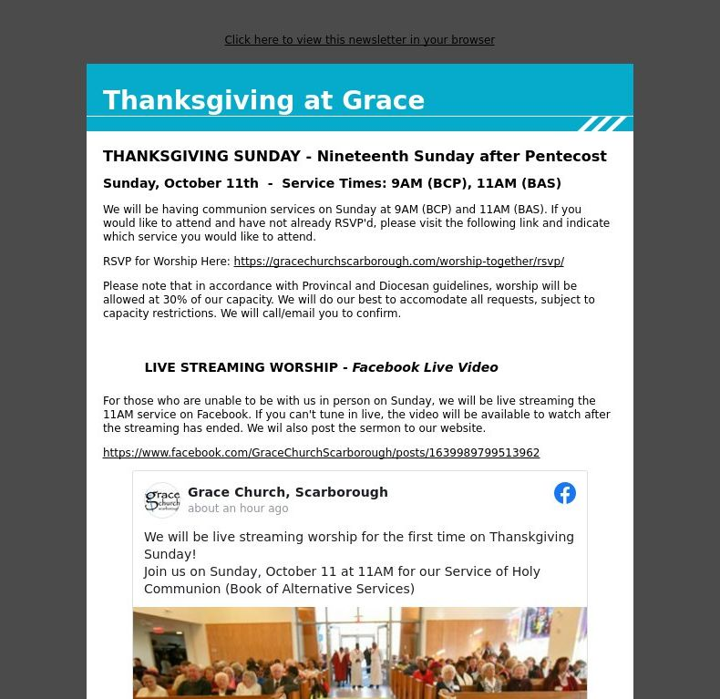 Thanksgiving at Grace