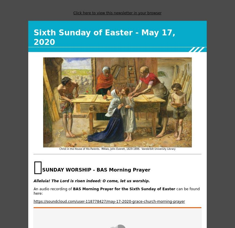 Sixth Sunday of Easter - May 17, 2020