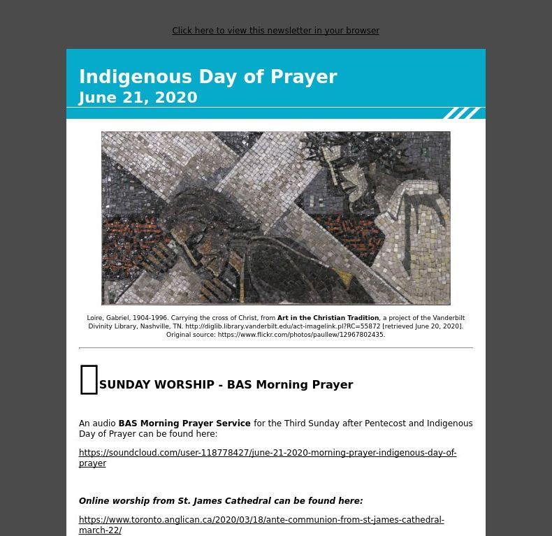 Third Sunday after Pentecost  - June 21, 2020