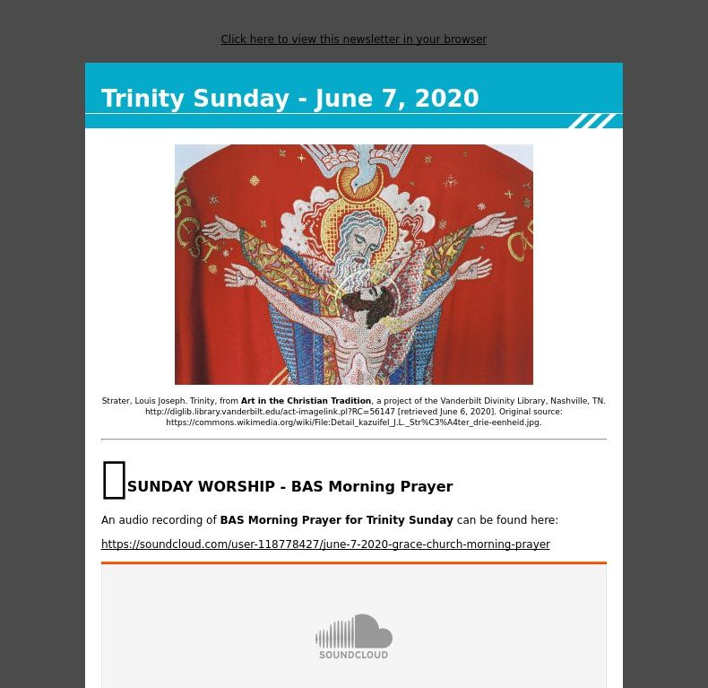Trinity Sunday - June 7, 2020